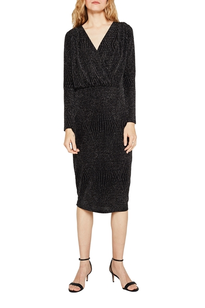 Снимка на Дамска рокля с блестящи нишки