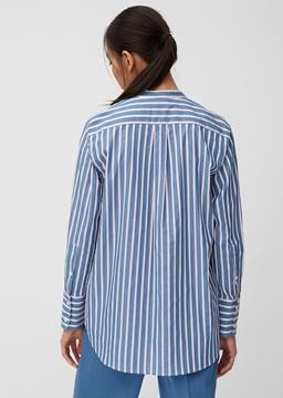 Снимка на Дамска риза на райе със свободна кройка