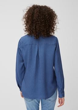 Снимка на Дамска риза с дълъг ръкав от лиосел