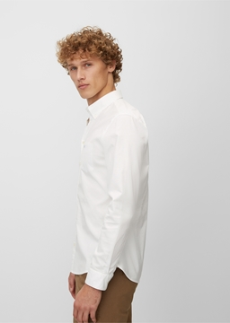 Picture of Button down,long sleeve,one chest pocket,inserted detail at sideseam