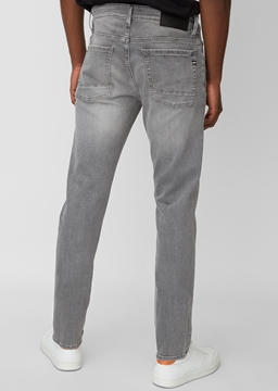Picture of Denim, 5-pocket, slim fit, low waist, low crotch, tapered leg, zip fly