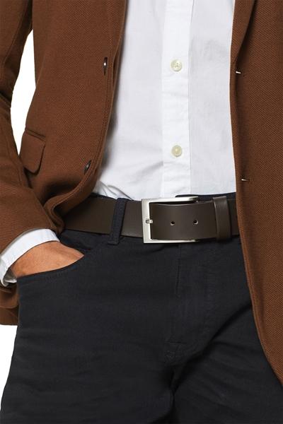 Снимка на Мъжки колан от гладка кожа