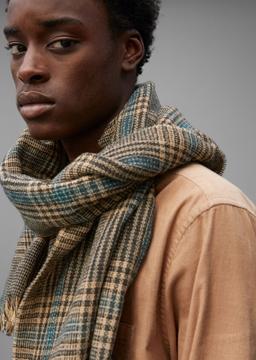 Снимка на Мъжки вълнен шал на каре
