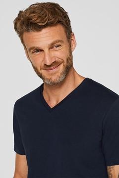 Снимка на Мъжка тениска с къс ръкав с V-образно деколте