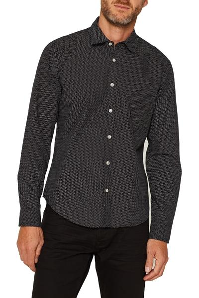 Снимка на Мъжка риза с фин принт, вталена