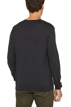 Снимка на Мъжки плетен пуловер от памук и коприна
