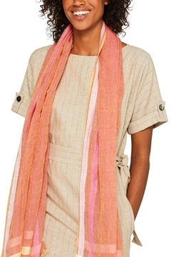 Снимка на Дамски шарен ленен шал