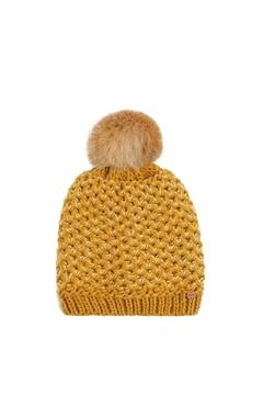 Снимка на Дамска плетена шапка с помпон