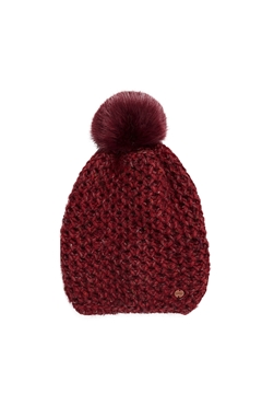 Снимка на Дамска вълнена шапка с помпон
