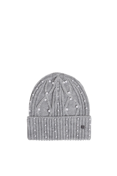 Picture of Textured knit beanie trimmed with beads