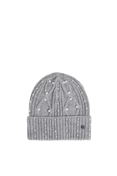 Снимка на Дамска плетена шапка с мъниста