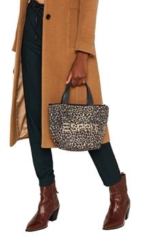 Снимка на Дамска чанта с животинска щампа и лого