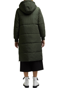 Picture of Recycled: padded quilted coat with hood