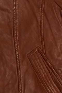 Picture of 100% leather biker jacket