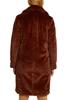 Снимка на Дамско палто от изкуствена кожа с яка с ревер