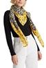 Снимка на Дамски шал в леопардови и флорални мотиви