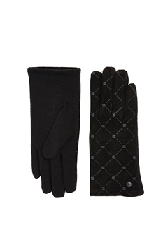 Picture of Made of leather/blended wool: monogram gloves