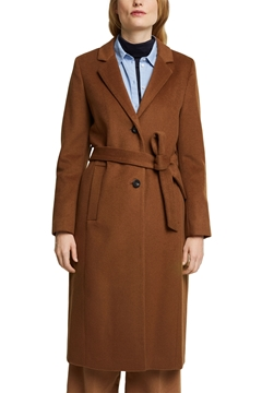 Picture of Long belted wool coat