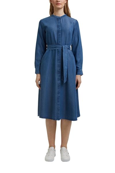 Снимка на Дамска рокля от TENCEL™ с деним ефект