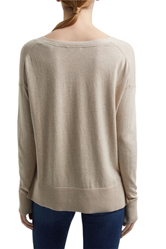 Picture of Basic jumper with linen and organic cotton REGULAR FIT