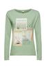 Снимка на Дамска блуза с дълъг ръкав от органичен памук Straight fit