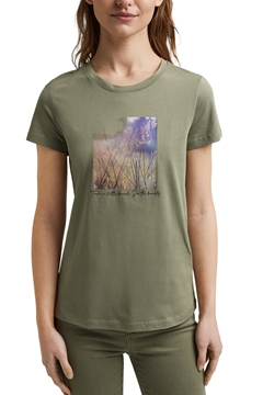 Picture of Organic cotton print T-shirt straight fit