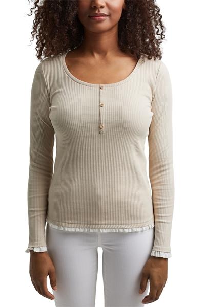 Снимка на Дамска блуза с дълъг ръкав, вталена