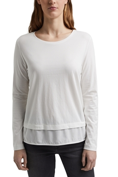Picture of Organic cotton long sleeve top with an inset trim
