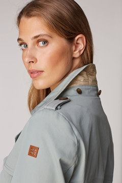 Picture of Recycled: Rain jacket with organic cotton STRAIGHT FIT