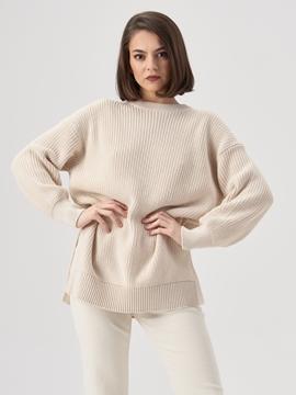 Снимка на Дамски плетен пуловер от органичен памук