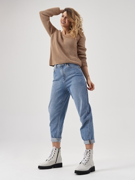 Снимка на Дамски панталон от памучен деним