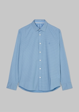Picture of Regular long-sleeved shirt with a geometric pattern