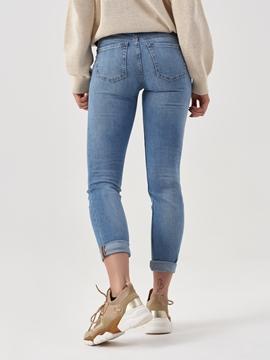 Снимка на Дамски дънки ALBY slim със средновисока талия