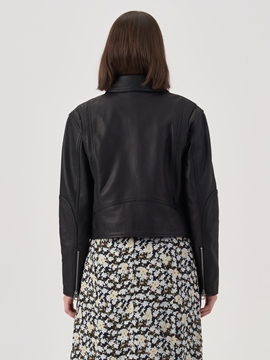 Picture of Biker jacket made of soft lamb leather