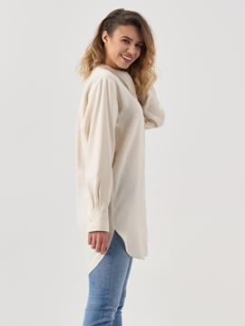 Picture of Long blouse with a subtly crinkled outer surface
