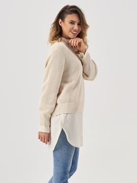 Picture of V-neck jumper Made of organic cotton