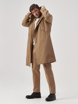 Снимка на Мъжко водоустойчиво палто с качулка от смесен памук