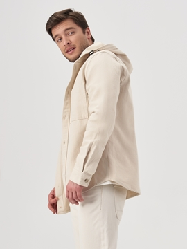 Picture of Hooded overshirt made of robust cotton twill fabric