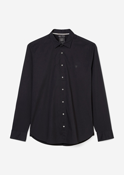 Picture of SUSTAINABLE Shaped long-sleeved shirt Made from an organic poplin fabric shaped fit