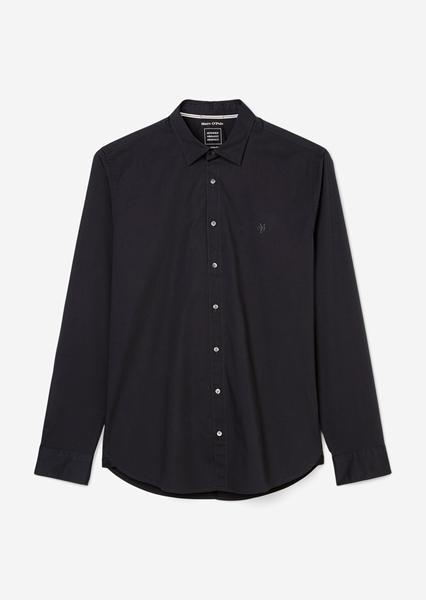 Снимка на SUSTAINABLE Мъжка риза с дълъг ръкав от органичен памук shaped fit