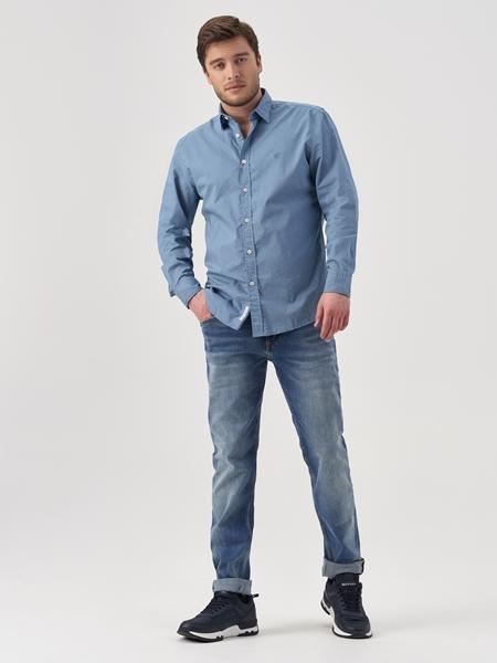 Снимка на Мъжки дънки SJÖBO slim fit с ниска талия
