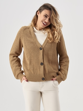 Picture of V-neck cardigan Made of organic cotton
