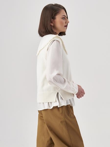 Снимка на Дамски пуловер без ръкави