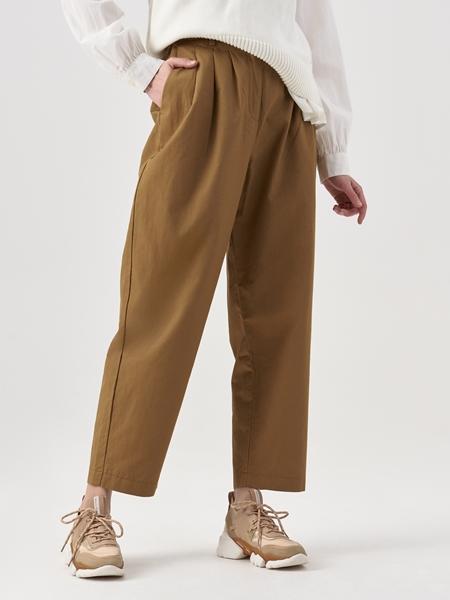Снимка на Дамски чино панталон Paper bag