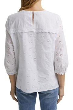 Picture of SUSTAINABLE Broderie anglaise blouse, 100% organic cotton