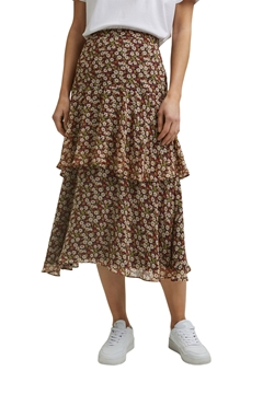 Picture of SUSTAINABLE Recycled: Flounce midi skirt with a floral print
