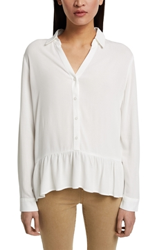 Picture of Flowing shirt blouse with a flounce