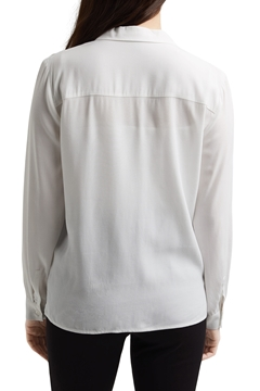 Picture of Shirt blouse with lapel collar
