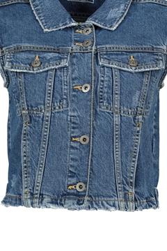 Снимка на Дамски елек от дънков плат Regular fit