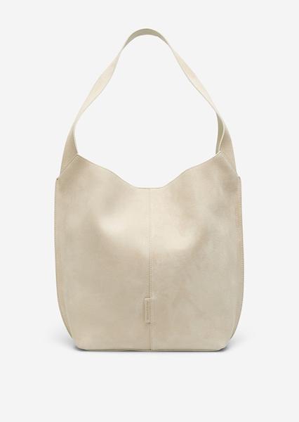 Снимка на Ръчно изработена чанта  Hobo bag от набук